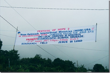 6. Outreach Banner at Entrance of Bonakanda Village
