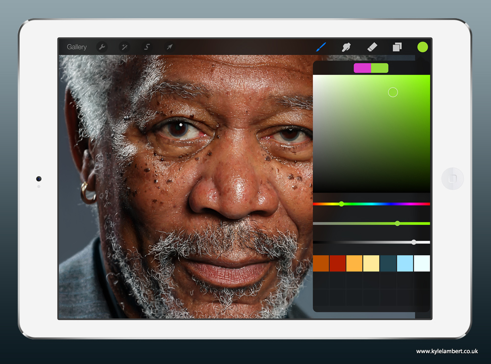 kyle-lambert-morgan-freeman-ipad-finger-painting-color